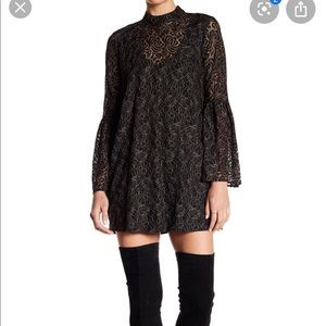 BCBGeneration bell sleeve lace dress
